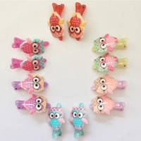 Wholesale Per Mixed Color Children Cartoon Plastic Hair Clips Baby Hairpins Kids Girls Hair Accessories Support Drop Shipping