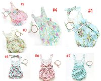 Wholesale baby rompers European Style Floral Printed Lace Girls jumping beans Sweet Flower Infant onesie newborn clothes