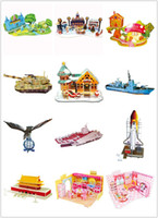 Wholesale Develop intelligence Paper D Puzzle Kids Children Teens Puzzle Game DIY Model Assembly Creative toys Christmas Gift For Kids