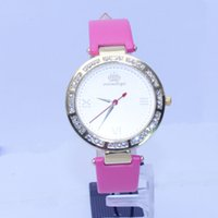 Wholesale Cheap Good Quality Gifts - 2016 New arrival alloy quartz watches gift promotion watches with genuine leather strap shining diamond cheap price good quality watches