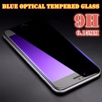 Wholesale Brand New For Apple iphone s Explosion Proof Blue Tempered Glass Screen Protector Film H Tempered Glass