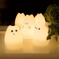 bedroom color ideas - Color silicone animal cartoon cute small night lamp luminous ideas on the rechargeable battery lamp lamp of bedroom the head of a bed