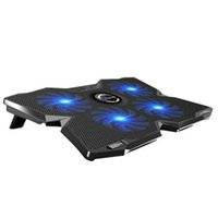 Wholesale CoolCold Ice USB Four Fans Laptop PC Base Ergonomic Stand Cooling Pad Cooler Radiator With Stand for Notebook Laptop WXR K4