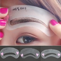 Wholesale 3pcs women Grooming Stencil Kit Make Up MakeUp Shaping DIY Beauty Eyebrow Template Stencils Tools Accessories