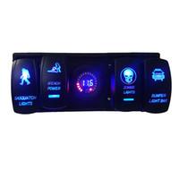Wholesale Led Digital Voltmeter Laser rocker switch waterproof With Rocker ARB Plug For Car Boat RV