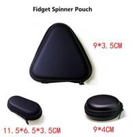 achat en gros de stockage pour les jouets-3 types Fidget Spinner Pouch Spinner à main Jouets Live Storage Bags câble de téléphone portable USB sacoche de stockage de carte de CD 100pcs option multicolore DHL