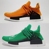 base men shoes - Newest NMD quot Human Race quot Colorway Runner NMD Hu Race Red colorway with White Boost Running Shoes NMD run Yellow based colorway Orange Green