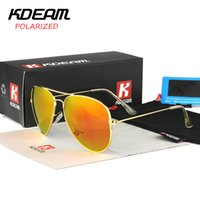 aviator size - KDEAM Polarized Aviator Sunglasses Men Colorful Driving Eyewear Outdoor Sports Women Sun Glasses With Case Big size mm KD3026