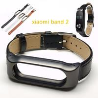 for xiaomi band 2 adjustable metal frame - Hot Sale for xiaomi mi Band Strap For Original Xiaomi Miband Smart band adjustable metal frame leather Wristband