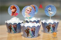 Wholesale pc Baby Shower Favors Girl Cupcake Cases Princess Cupcake Wrappers Toppers Cake Picks Birthday Party Decoration Kids