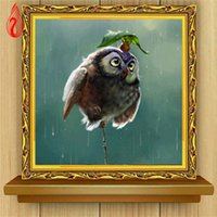 Wholesale YGS DIY D Diamond Embroidery The Little Bird Round Diamond Painting Cross Stitch Kits Diamond Mosaic Home Decoration