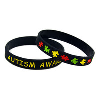 Jelly, Glow autism awareness bracelets silicone - Autism Awareness Silicon Wristband Great For Daily Reminder By Wearing This Colourful Bracelet
