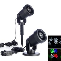 Wholesale Outdoor christmas garden light rotating RGB snowflake laser projector Led lawn lights for brithday wedding party decorations