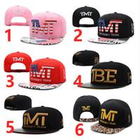 Wholesale TMT Snapback Hats Caps Red TBE Usd Dollar Star Flag Fashion Men Adjustable Baseball Cap
