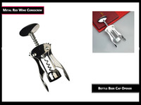 Wholesale 2017 New Stainless Steel Waiter Metal Red Wine Corkscrew Bottle Beer Cap Opener free shipment