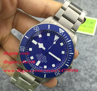 Wholesale Mens Luxury Brand Christmas watches Blue dial en s Automatic stainless steel PELAGOS Strap TB Wristwatches