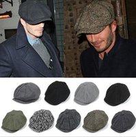 Wholesale Hats Men Hat Men Newsboy Hats Unisex Winter Casual Woolen Cotton Knit Thicken Warm For Winter Fashion Hot Selling