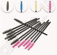 Wholesale HHA550 Disposable Eyelash Brush Mascara Wands Applicator Makeup Cosmetic Tool Pink Blue Yellow Black color Hot Sell