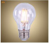 Super Bright E27 Led 4W Ampoules à Filament Lumière 360 Angle A60 Led Lumières Lampe Edison 4W 220V + CE UL + Garantie 3 An