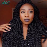 Cheap Havana Mambo Twist Crochet Braids synthetic hair for braid ombre braiding hair xpression braiding hair mega