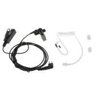 audio wiring kit - wire Coil Earbud Audio Mic Surveillance Kit for Motorola Two way Radio