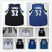 Wholesale Hot SALE Karl Anthony Towns Kevin Garnett Ricky Rubio Andrew Wiggins Jersey Basketball Jersey