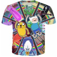 Men Crew Neck Short Sleeve Adventure Time New Fashion Mens Womans Cartoon Character Colorful T-Shirt Summer Style Funny Unisex 3D Print Casual T-Shirt AA295