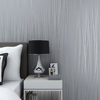 Wholesale Hot Sale Beautiful Reflective Glitter Stripes Wallpaper Modern Elegant Solid Living Rooms D Wallpapers Grey Pink White WZ027