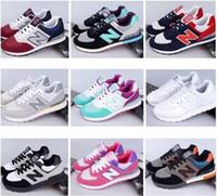 al por mayor nuevos equilibrios-Los nuevos zapatos ocasionales del deporte de la balanza de la llegada 2017 para los hombres de las mujeres de los hombres calzan el tamaño 35-44 de los zapatos de los amantes de la zapatilla de deporte