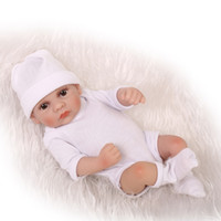Boys 3-4 Years PVC 12inch 25CM sweet small soft silicone vinyl real soft gentle touch reborn baby doll for children