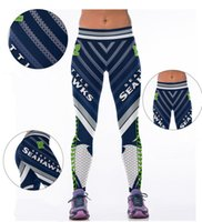 Wholesale yoga Pant football Team Tide Brand SEATTLE Pants OAKLAND Printed pants Women Quick Running Running Yoga Pants free size
