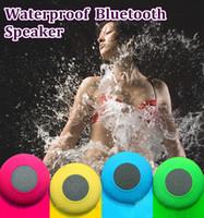Wholesale Bluetooth Speaker Waterproof Wireless Shower Handsfree Mic Suction Chuck Speaker Car Speaker Portable mini MP3 Super Bass Call Receive
