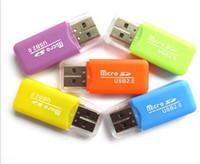 Wholesale 2016 Epacket High Speed USB Micro SD card T Flash TF M2 Memory Card Reader adapter gb gb gb gb gb gb TF Card
