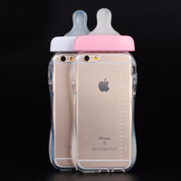 baby bottle cover - Baby Nipple Bottle Back Cover For IPhone S Plus Plus Clear Transparent Silicone TPU Fitted Phone Cases