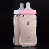 Téléphones pour bébés France-Couverture de bébé bouteille mamelon pour IPhone 6 / 6S / 6 Plus / 7 / 7Plus Transparent Silicone TPU 100%