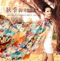 Wholesale 2016 The New Arrival mulberry silk scarves comfortable and beautiful Silk scarves large beach towels female shawls suit all season