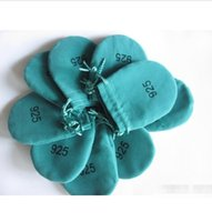 Wholesale 40pcs pack Green Logo Gift Jewelry Pouches CMx55CM P2 for silver Jewelry bag Best Quality