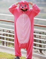 bear onesie - New Adult Animal Pink Bear Cosplay Pajamas Onesie Sleepwear Costume