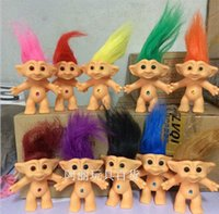 Wholesale 10 set Vinyl Lucky Troll Doll in Dam Troll Doll Toy Figure Silicone Vinyl Materials Classic Cute cm Troll doll Novelty Dolls