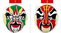 PVC beijing culture - Plastic flocking Chinese Peking beijing Opera mask face special props Chinese Spread Millennium traditional culture