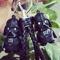 FASHION animate cross - BS Black Warrior cartoon LED light emitting sound Keychain animated star wars music flashlight Pendant