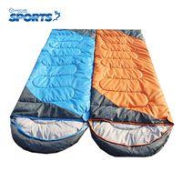 Mummy best outdoor hoods - Best Selling Spliced Adult Winter Outdoor Cotton Sleeping Bag Couples Envelope Hood Type Vertical Camping