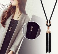 Wholesale korean wind New Arrival Tassel Pendant Sweater Chain Long Beads Necklace Fashion Jewelry Gift