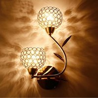 Wholesale Modern Sconce LED Wall Lamp Bedside Stainless steel Crystal Wall Lights High Quality Bathroom Light Lampada