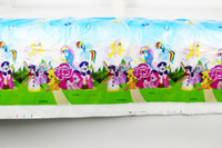 Wholesale FreeShipping My Little Pony Theme Birthday Party Decoration Kids Supplies Favors Baby Girl Table Cloth Size cm X cm