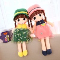 Wholesale A large doll Cute girl doll Plush Doll children s birthday gift girl doll Free card A variety of colors available