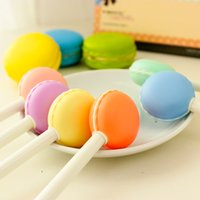 Wholesale Kawaii Pens Stationery Cute Black Gel Ink Students Macaron Gel Pen Girls Pen