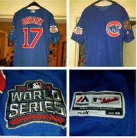 Wholesale Kris Bryant Chicago Cubs Kris Bryant Baseball Jerseys World Series Jersey World Series Champions Cool Base Jerse
