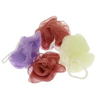 Wholesale Colorful Soft Ball Flower Scrubber Spa Cleaning Scrub Random Color Wash Shower Puffs Bath Sponge Body Brush