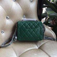 Livraison gratuite 2016 vert Mini sac en cuir de caviar en cuir unique sac en cuir unique sac bandoulière noir rouge Beige 17cm